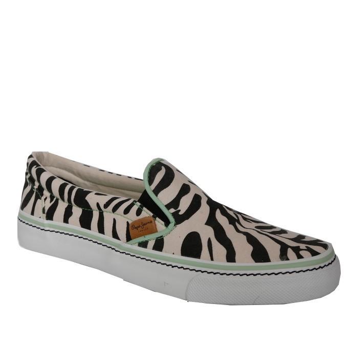 6482e2fb7a5 Pepe jeans Slip-on Γυναικεία Παπούτσια PLS30147 Ζέβρα |Γυναικεία ...