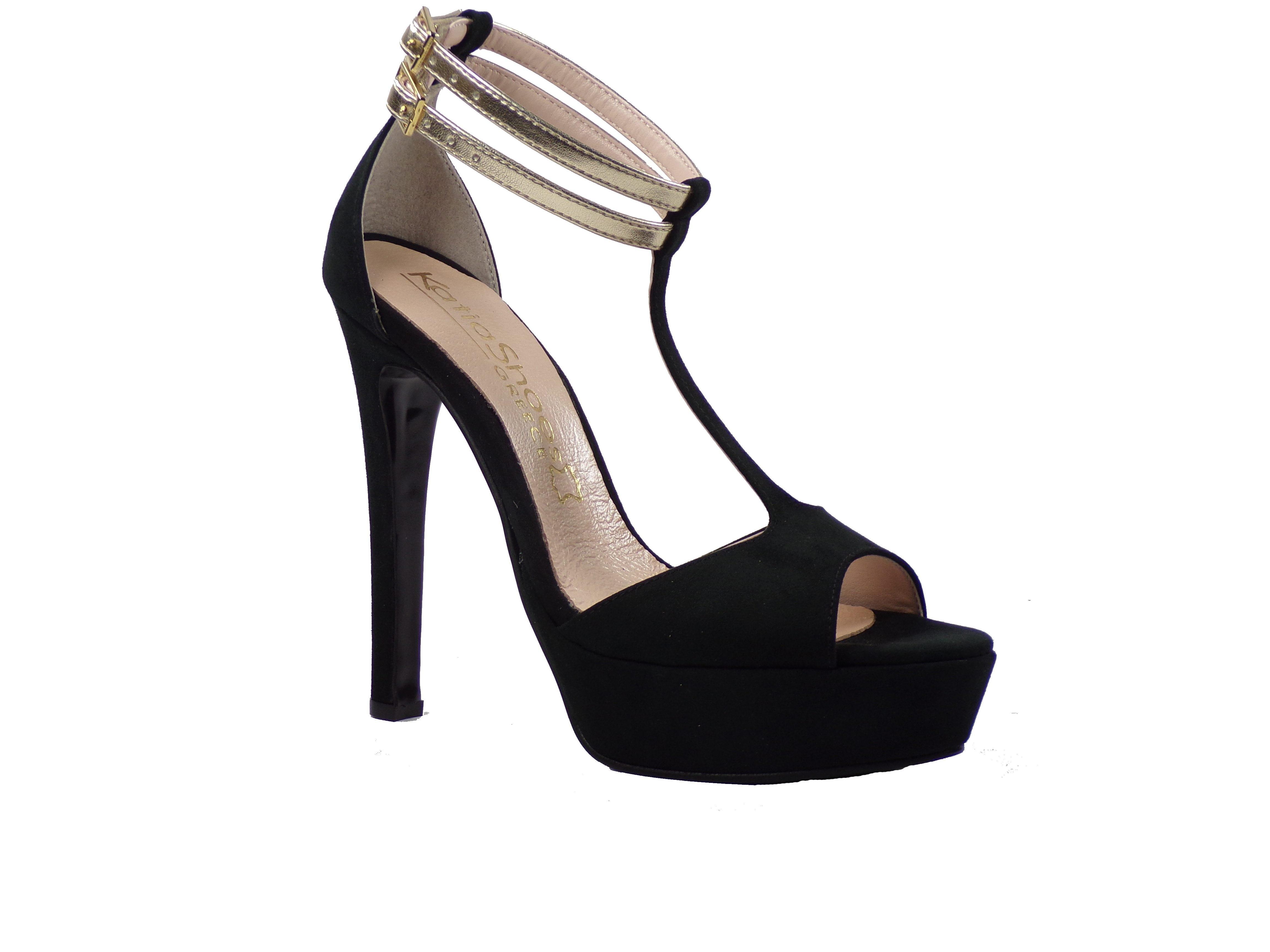 Katia Shoes Γυναικεία Πέδιλα 16/4715 Μαύρο Katia shoes 16/4715 Μ