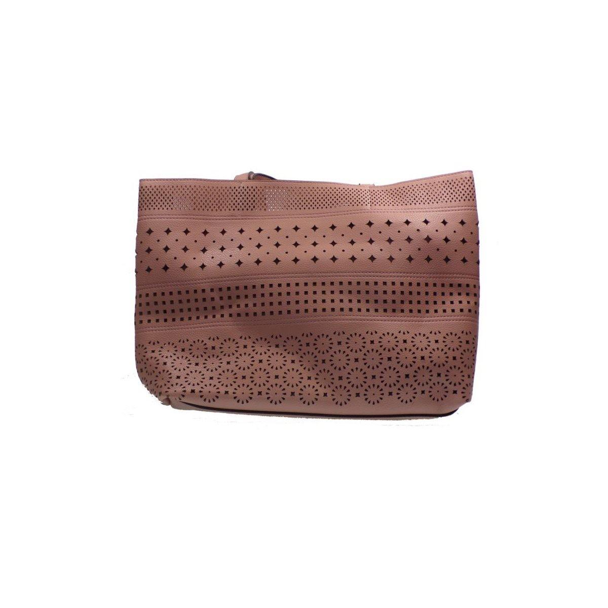 043972b5db BagiotaShoes Exe Bags Γυναικείες Τσάντες 8902 Ροζ exe bags 8902 roz