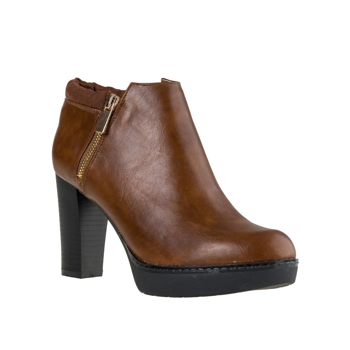 Fashion Icon Γυναικεία Παπούτσια Μποτάκια F24-2539 Κάμελ Fashion icon F24-2539 Κάμελ