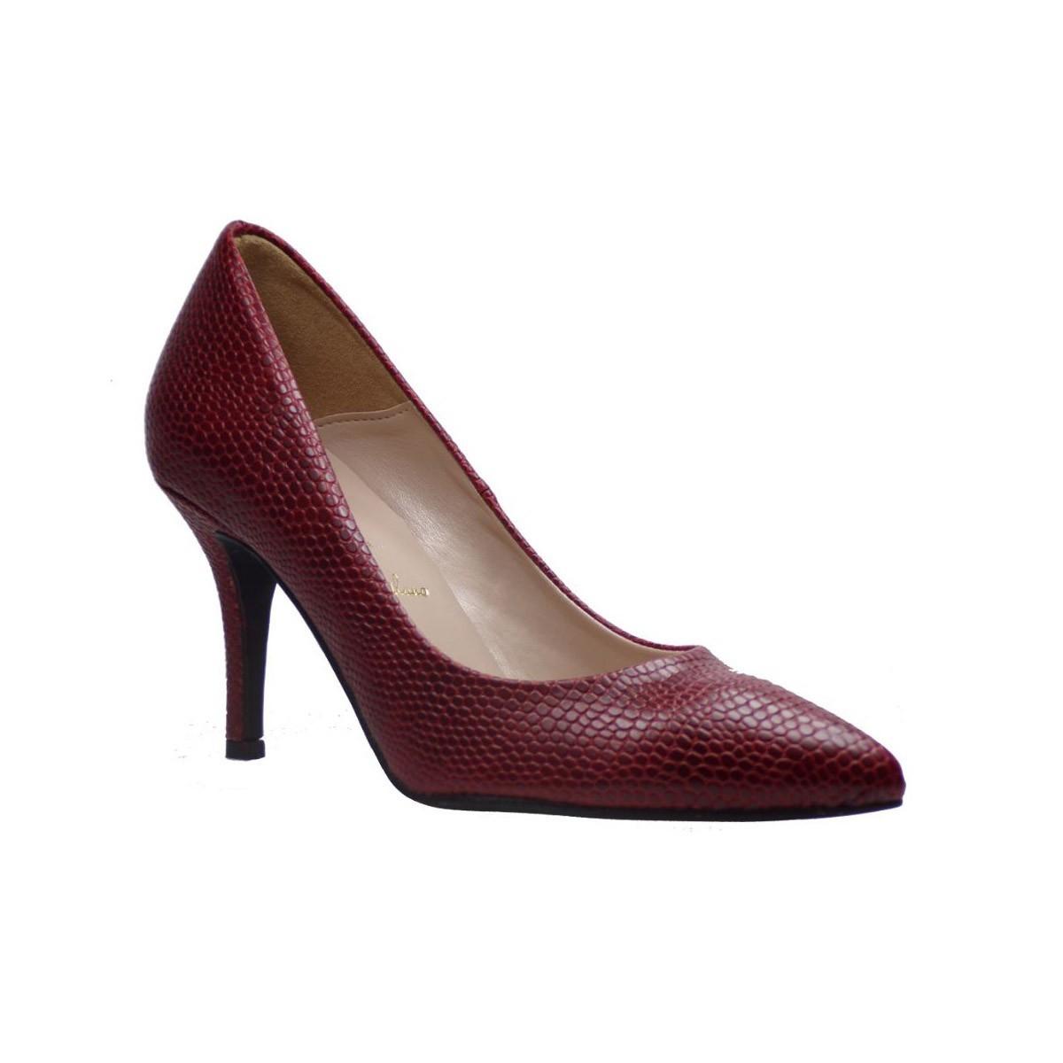 Alessandra Paggioti Γυναικεία Παπούτσια Γόβες 83001 Μπορντώ Cobra