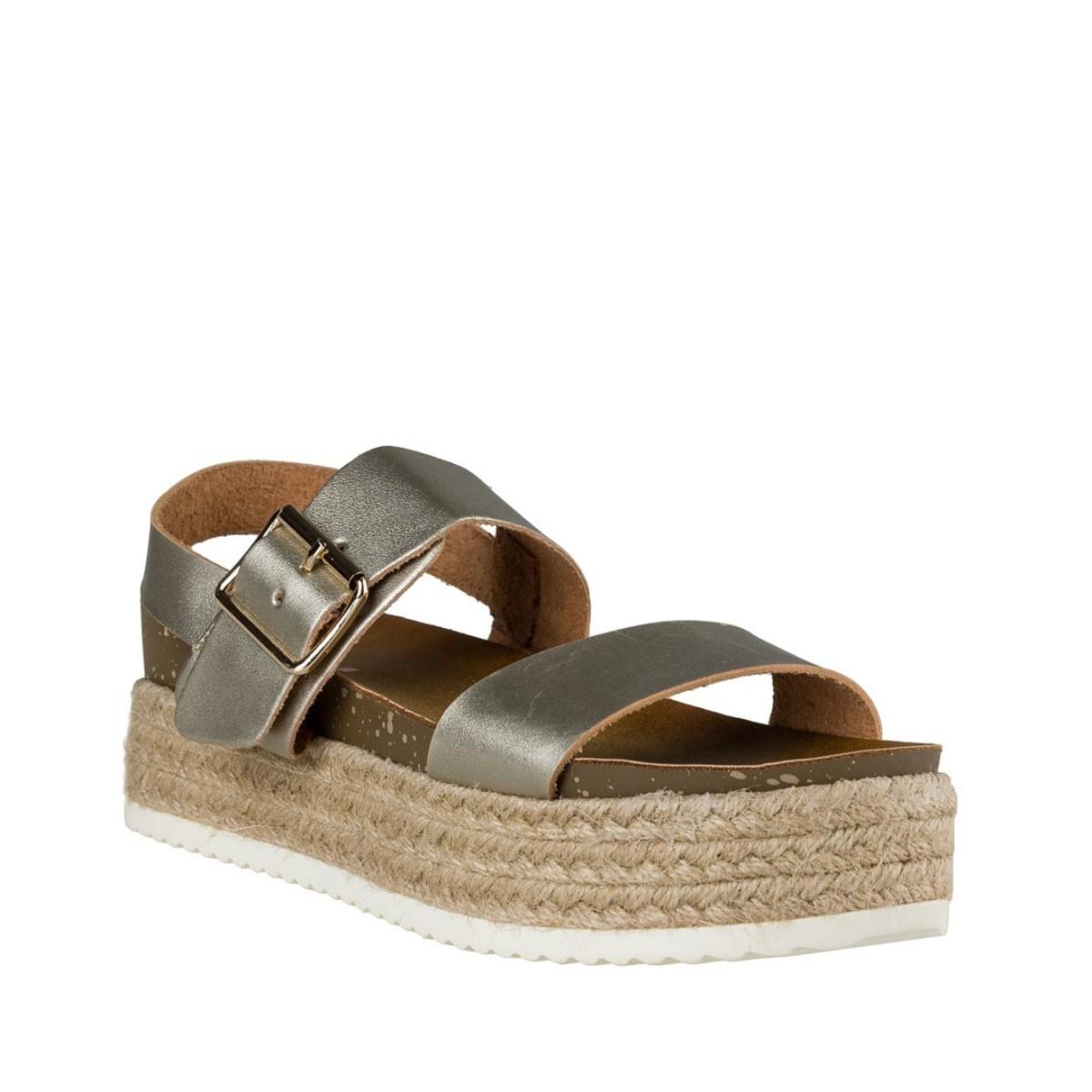 Envie Shoes Γυναικεία Παπούτσια Πέδιλα E21-05055 Χρυσό