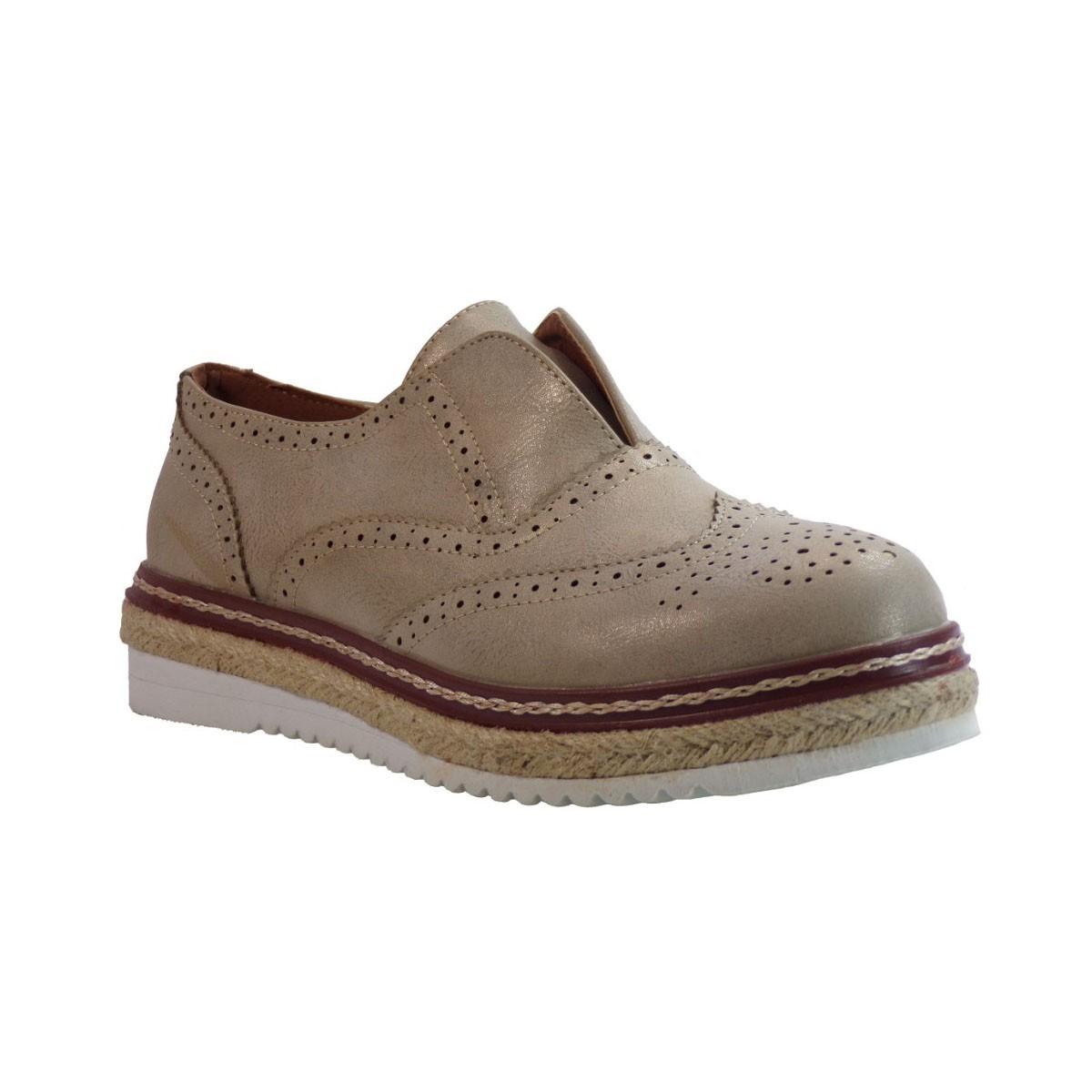 Envie shoes Oxford Γυναικεία Παπούτσια E42-05040 Χρυσό Envie Ε42-05040 Χρυσό