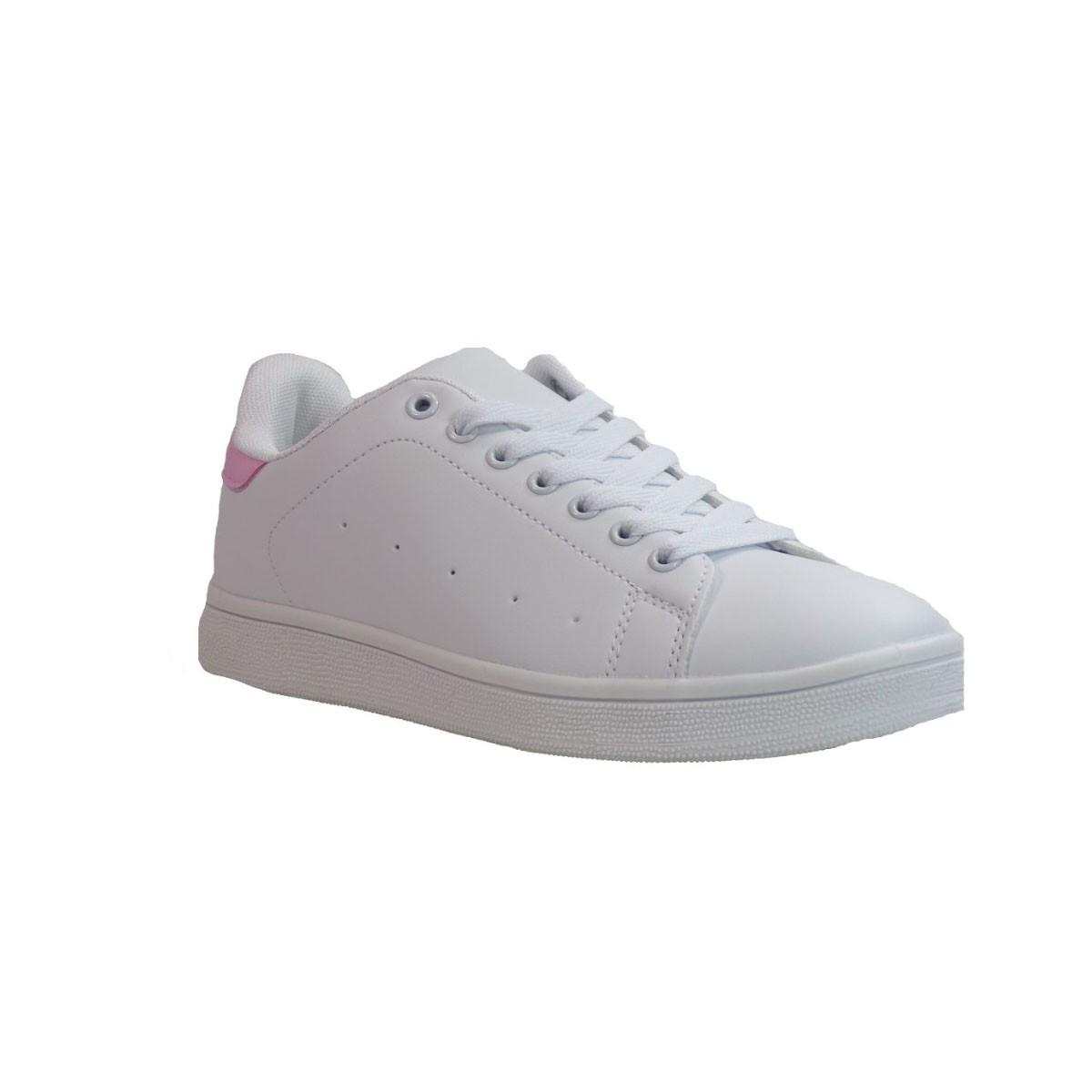 Bagiota shoes Sneakers Παπούτσια Γυναικεία Β2009-6 Άσπρο Ροζ Bagiota shoes Β2009-6 Άσπρο Ροζ