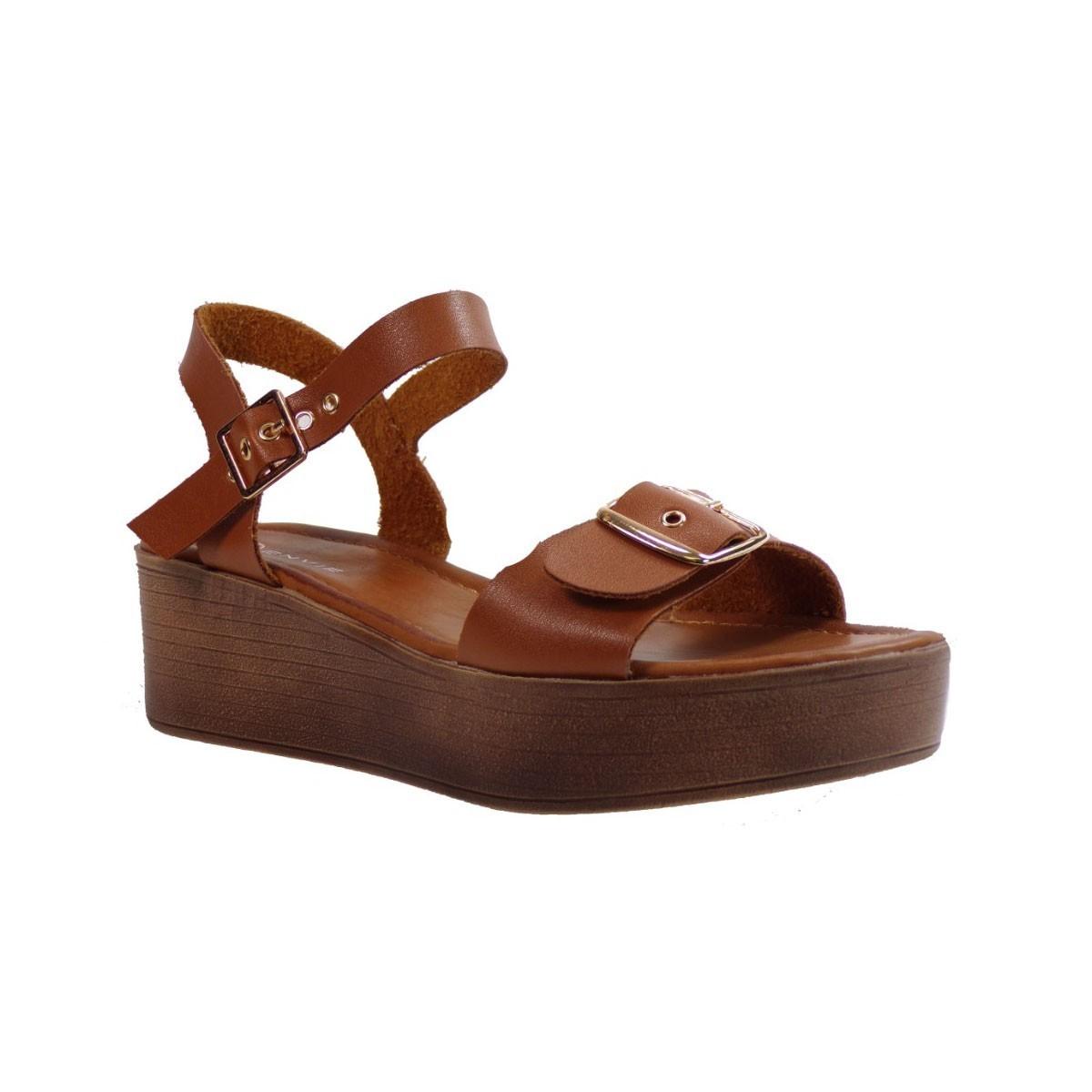 Envie Shoes Γυναικεία Παπούτσια Πέδιλα E42-05041 Καφέ