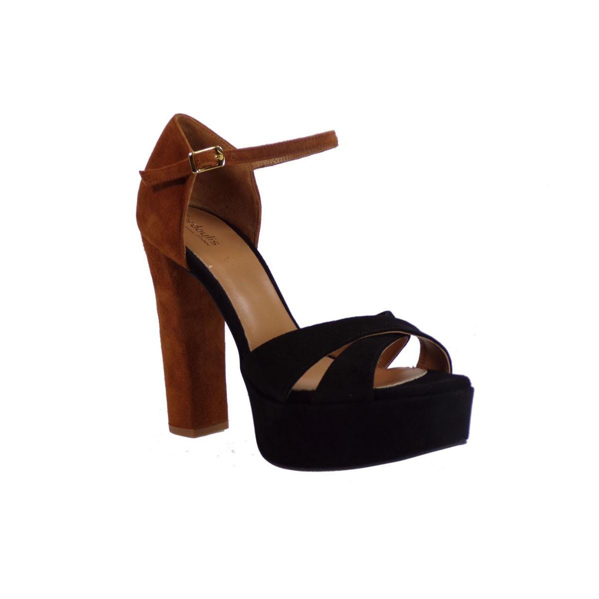 Fardoulis shoes Γυναικεία Πέδιλα 4003 Μαύρο-Ταμπά Fardoulis shoes 4003 Μαύρο-Ταμπά