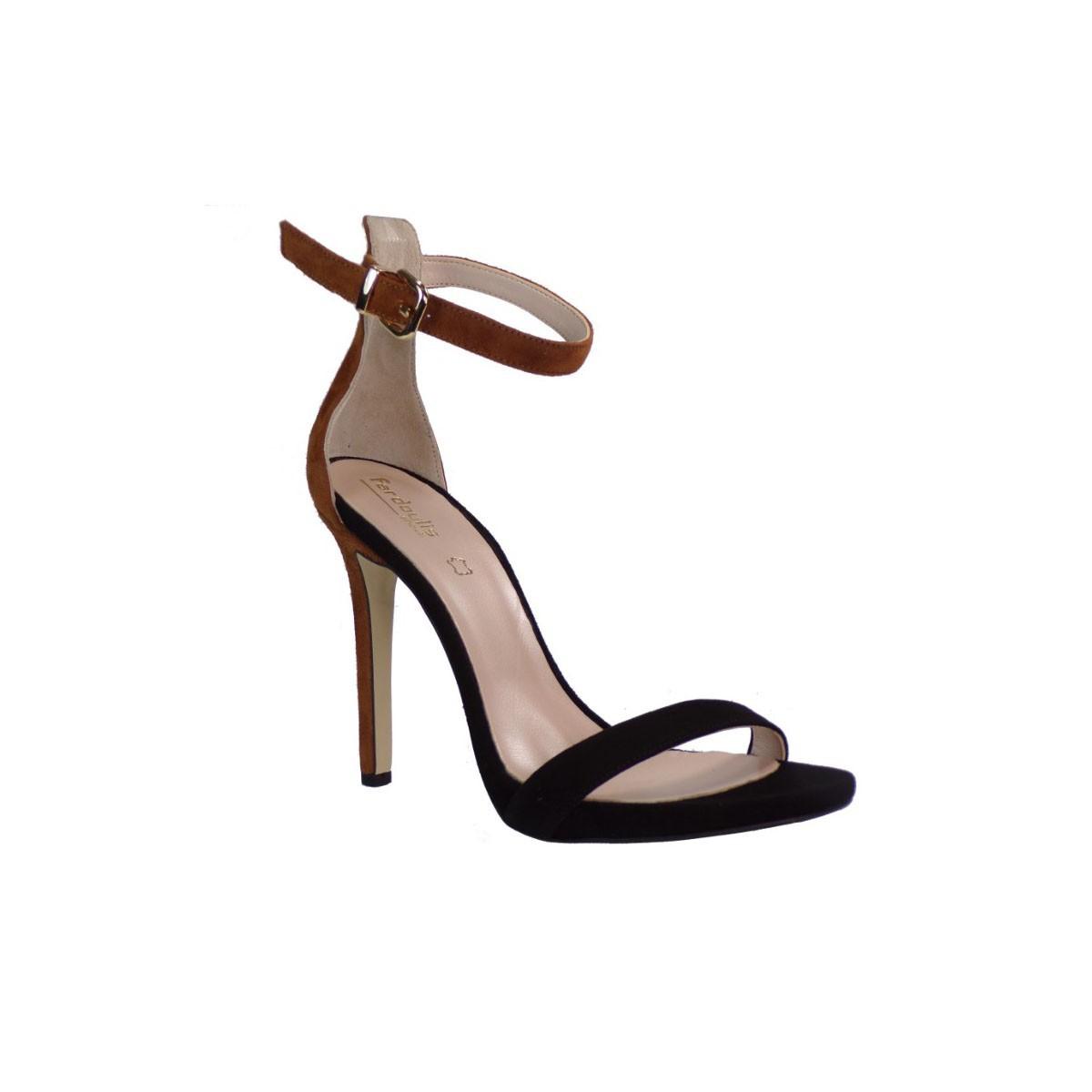 Fardoulis shoes Γυναικεία Πέδιλα 9118 Μαύρο-Ταμπά