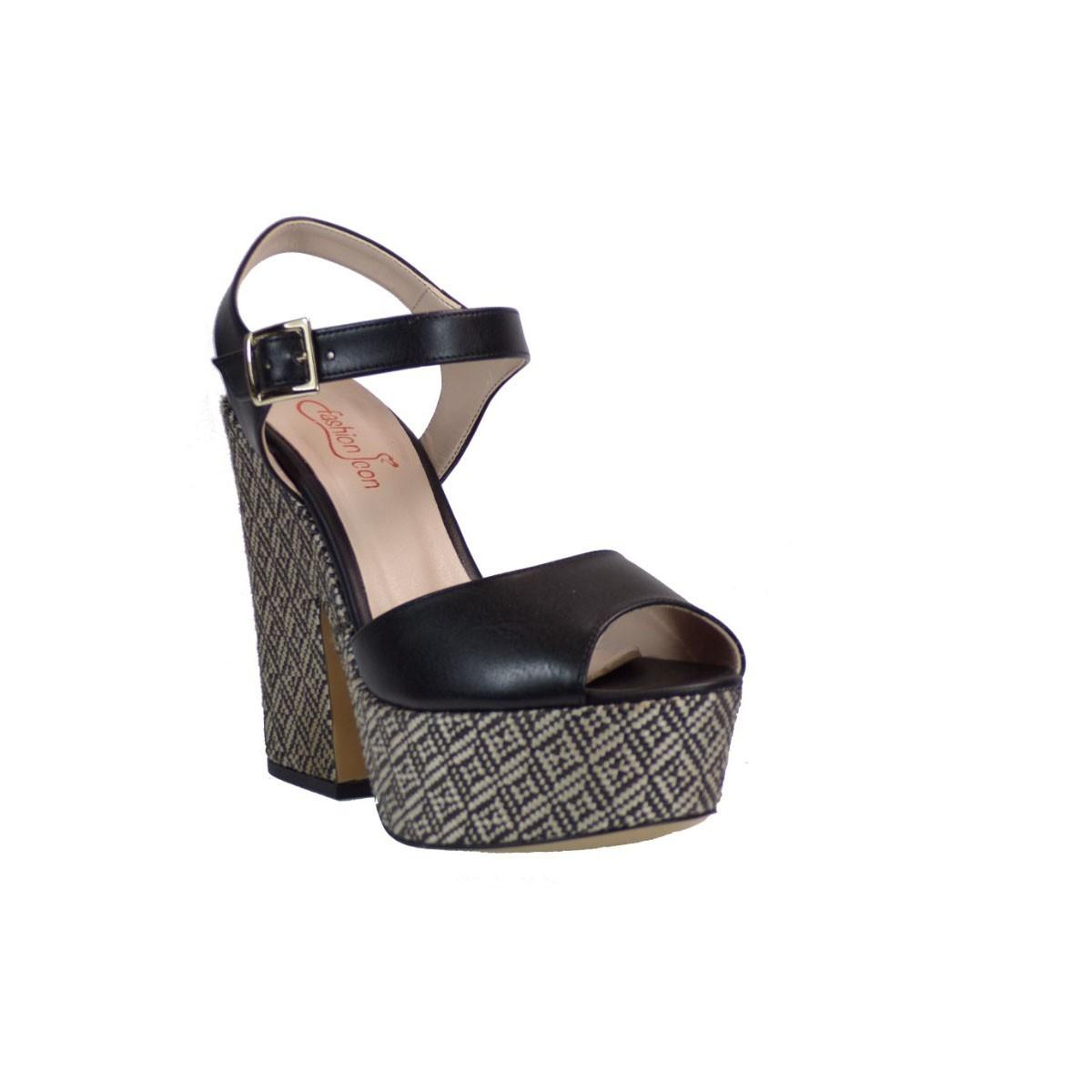 Fashion Icon Γυναικεία Παπούτσια Πέδιλα F09-05653 Μαύρο