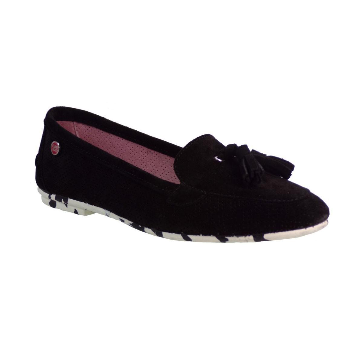 yum gum Γυναικεία Παπούτσια Mocassin Mina 17SW604/01 Μαύρο yum gum Mocassin Mina 17SW604/01 Μ
