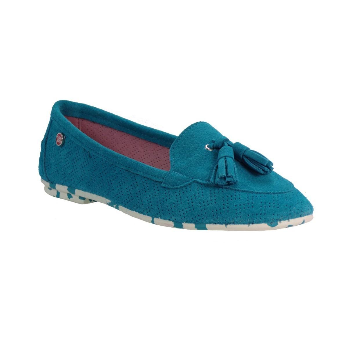 yum gum Γυναικεία Παπούτσια Mocassin Mina 17SW604/17 Τιρκουάζ yum gum Mocassin Mina 17SW604/17 Τιρκουάζ