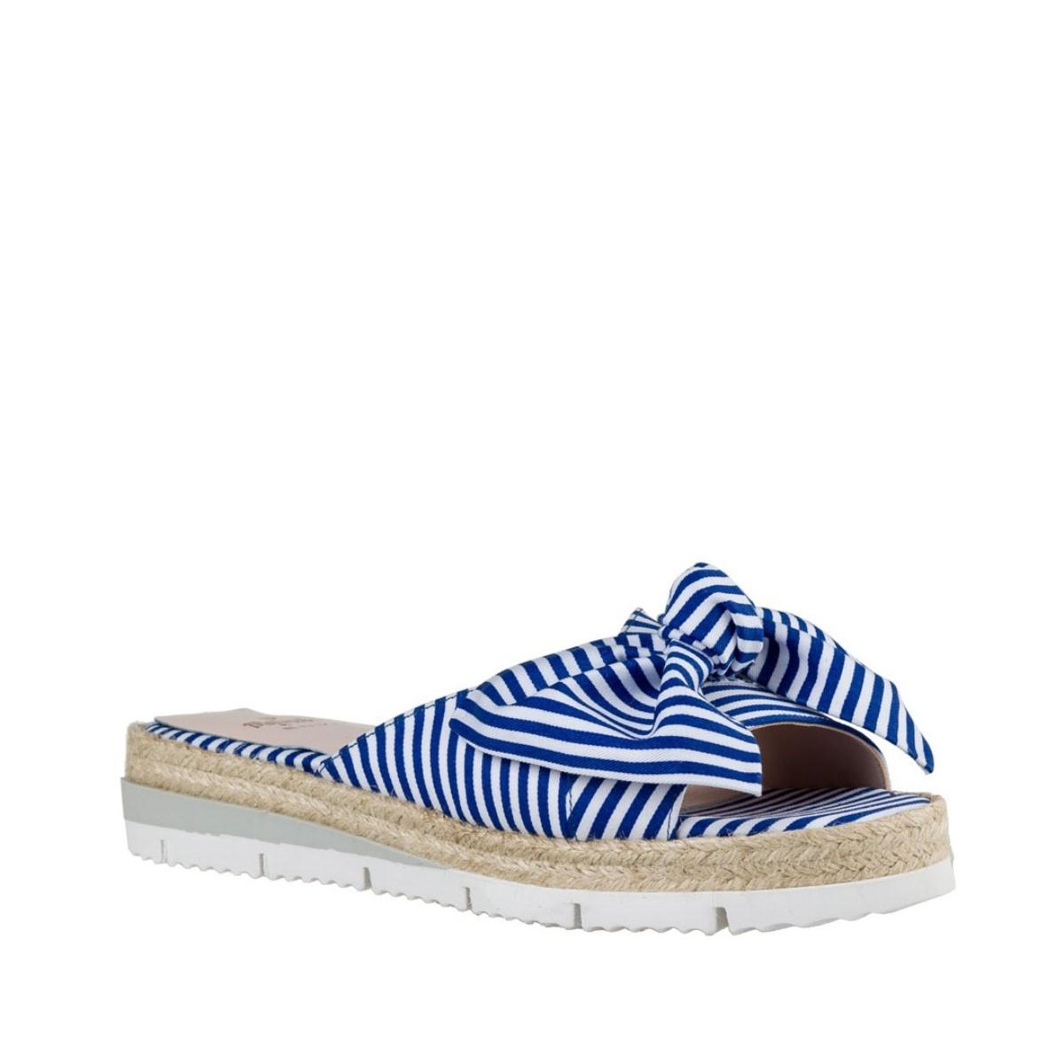 BagiotaShoes Mairiboo by Envie Shoes Γυναικείες Παντόφλες M03-05915 Μπλε  Ριγέ Mairiboo M03-05915 Μπλε 8fc70cd9672