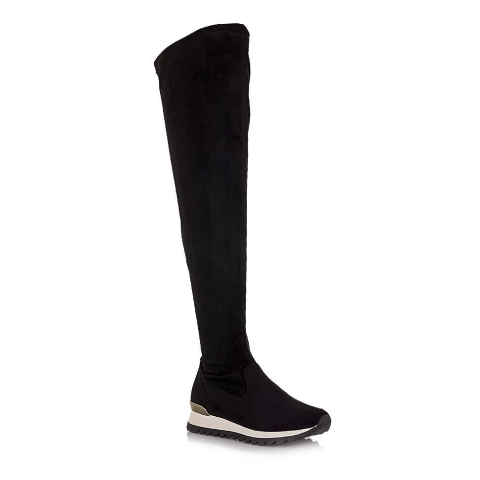 Coolway Γυναικείες Μπότες TYNA-222 Μαύρο Καστόρι