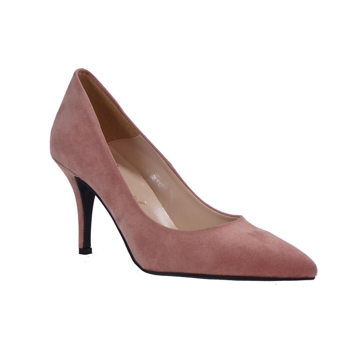 Alessandra Paggioti Γυναικεία Παπούτσια Γόβες 83001 Πούδρα Καστόρι