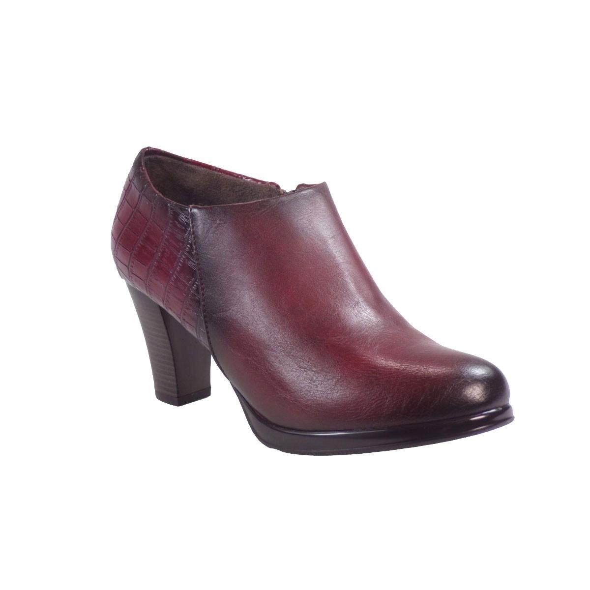 63c8b9007e5 Envie Shoes Γυναικεία Παπούτσια Aστραγάλου Ε63-06780-39 Mπορντώ ...