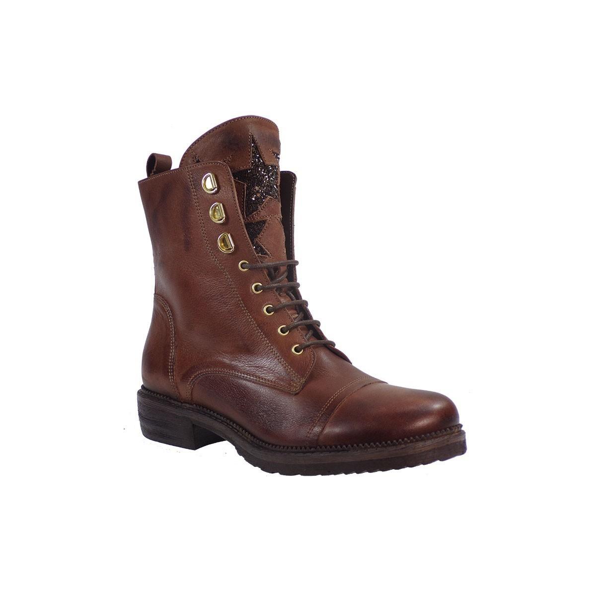 Fardoulis Shoes Γυναικεία Παπούτσια Αρβυλάκια 0223 Tαμπά Δέρμα ... 1fab0f8745e