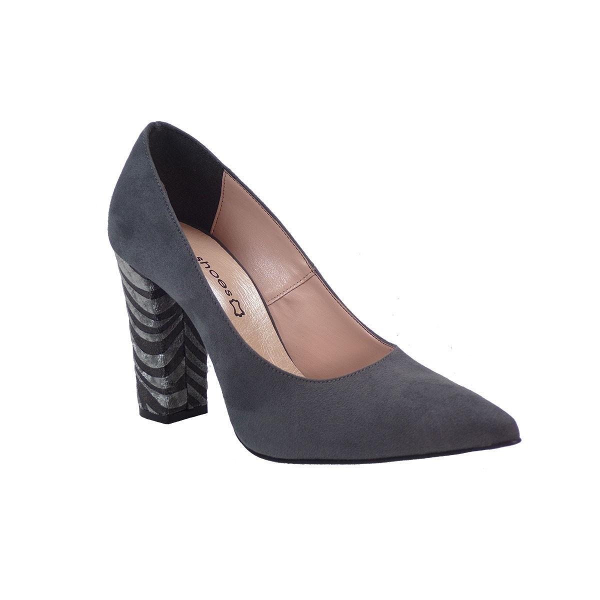 KATIA SHOES Γυναικεία Παπούτσια Γόβες Κ/ΓΟΒΑ/4972 Ανθρακί Καστόρι