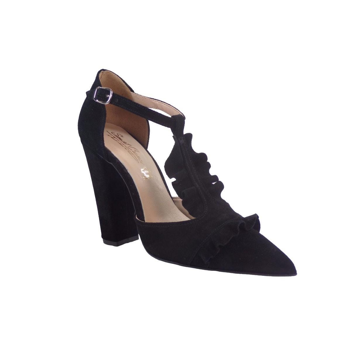 SMART CRONOS Γυναικεία Παπούτσια Γόβες 6709/1787 Μαύρο Δέρμα Καστόρι