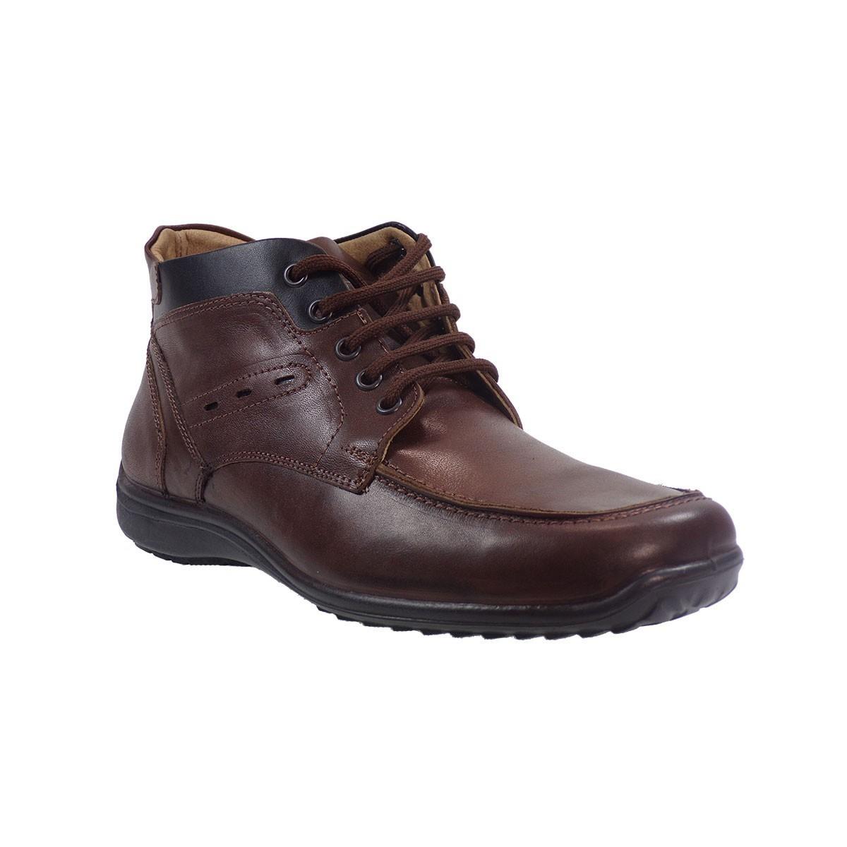 5756beac797a Aeropelma Duetto Ανδρικά Παπούτσια Μποτάκια 606 Καφέ Δέρμα ...