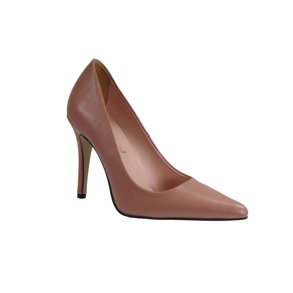 Alessandra Paggioti Γυναικεία Παπούτσια Γόβες 89001-Χ Nude Δέρμα