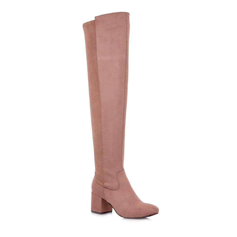Exe Shoes Γυναικεία Παπούτσια Μπότα CHERRY-923 Nude Καστόρι