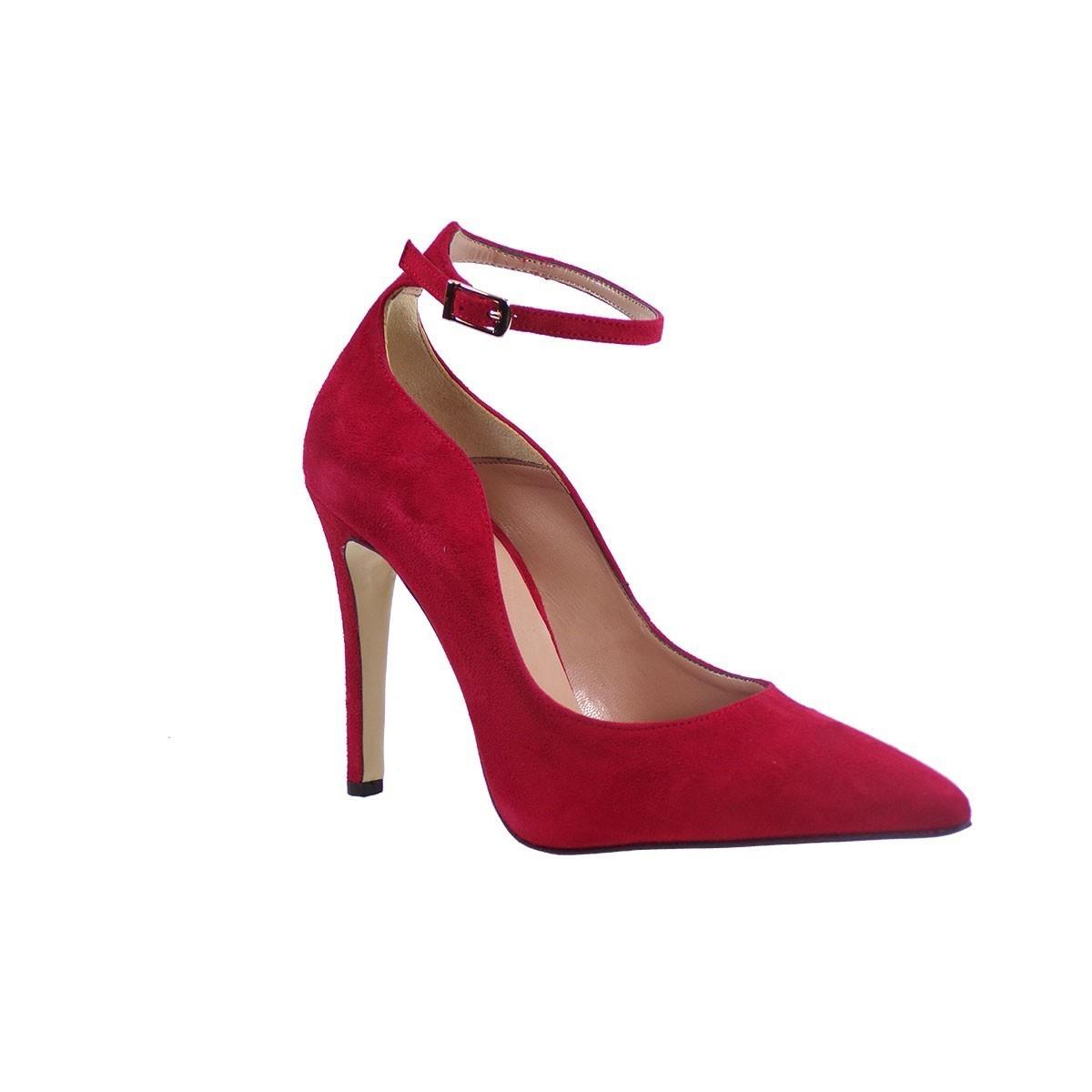 Fardoulis Shoes Γυναικείες Γόβες 02304 Kόκκινο Δέρμα Καστόρι