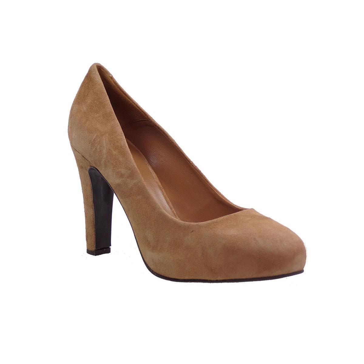 Fardoulis Shoes Γυναικείες Γόβες 03201 Ταμπά Δέρμα Καστόρι
