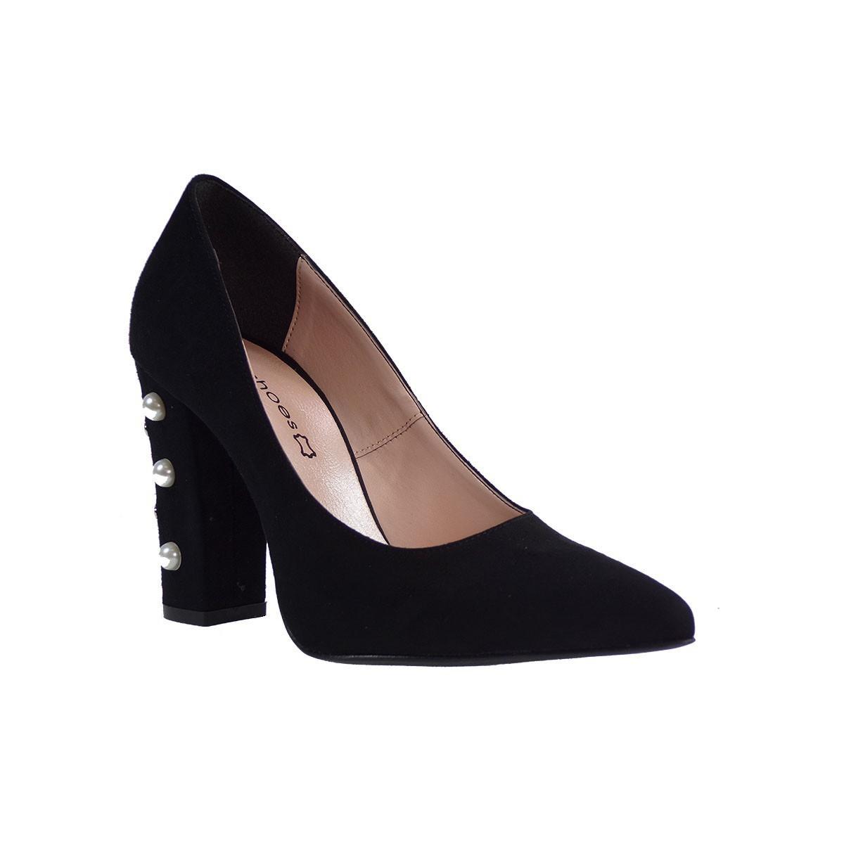 KATIA SHOES Γυναικεία Παπούτσια Γόβες 146/4972 Μαύρο Καστόρι