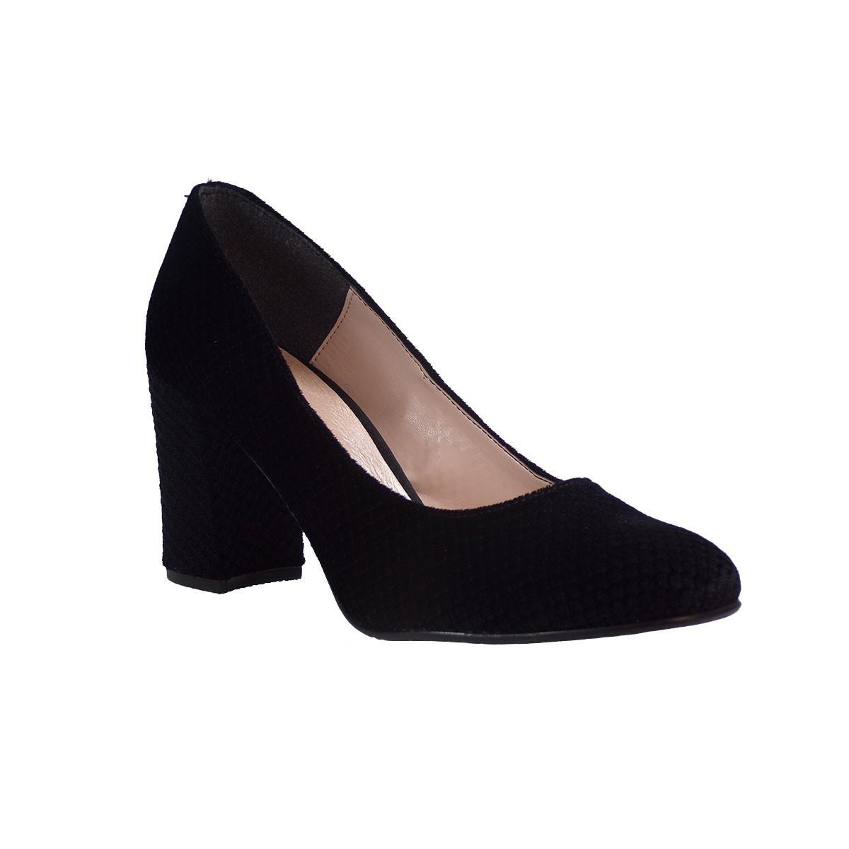KATIA SHOES Γυναικεία Παπούτσια Γόβες ΓΟΒΑ/1785 Mαύρο Λέπι