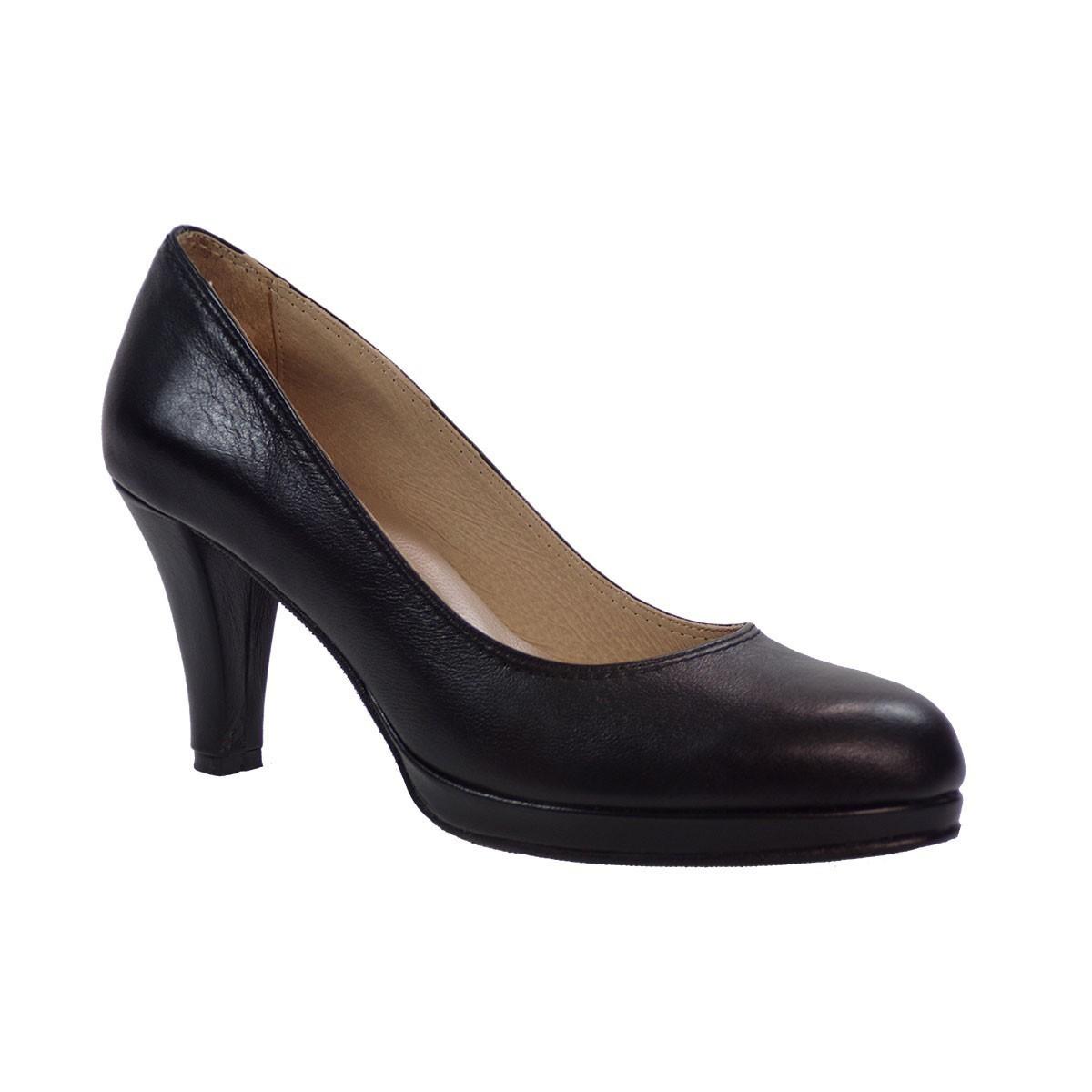 Πετρετζίκης shoes Γυναικεία Παπούτσια Δερμάτινα 100 Μαύρο Δέρμα