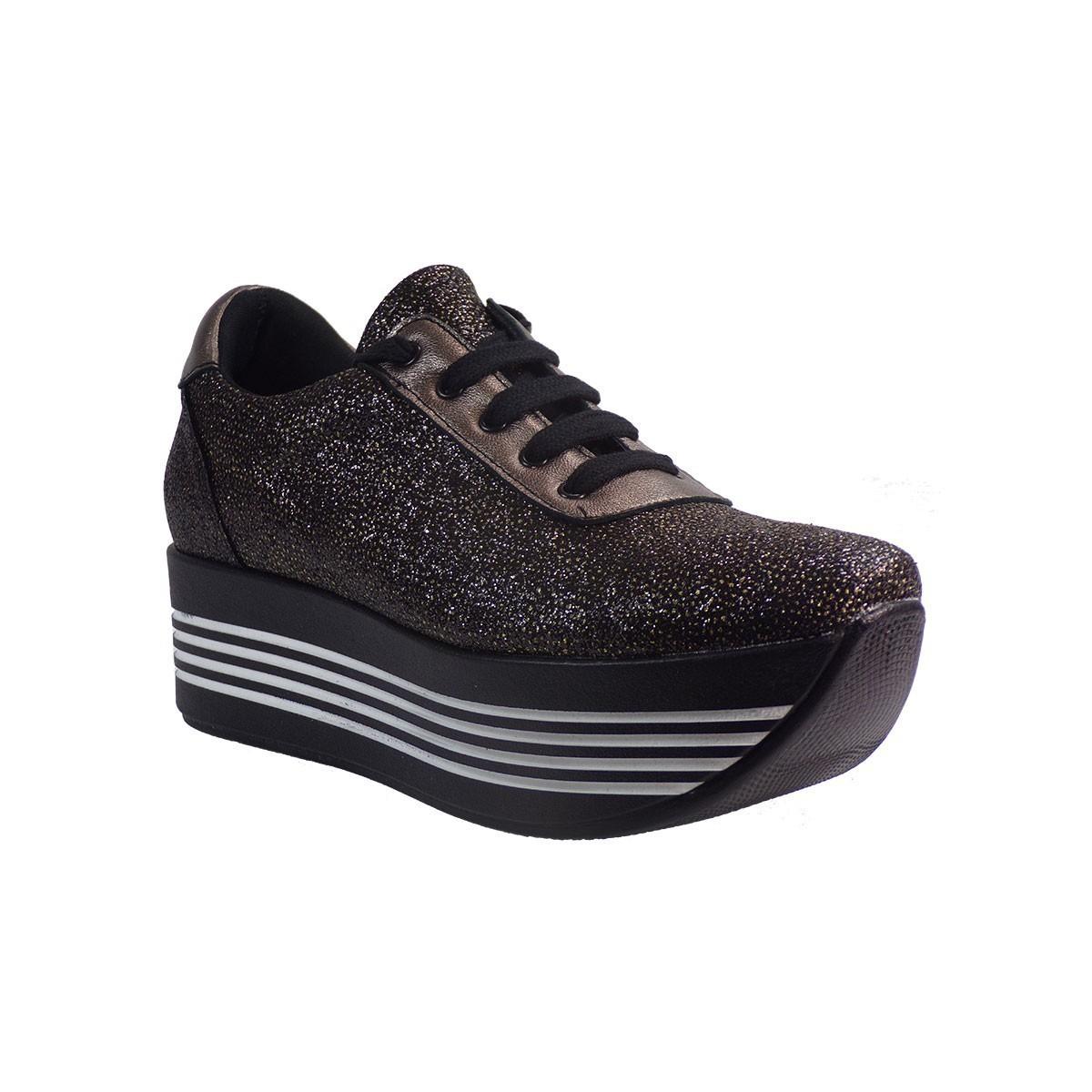 SMART CRONOS Γυναικεία Παπούτσια Sneakers 6704/1055 Μπρονζέ Δέρμα