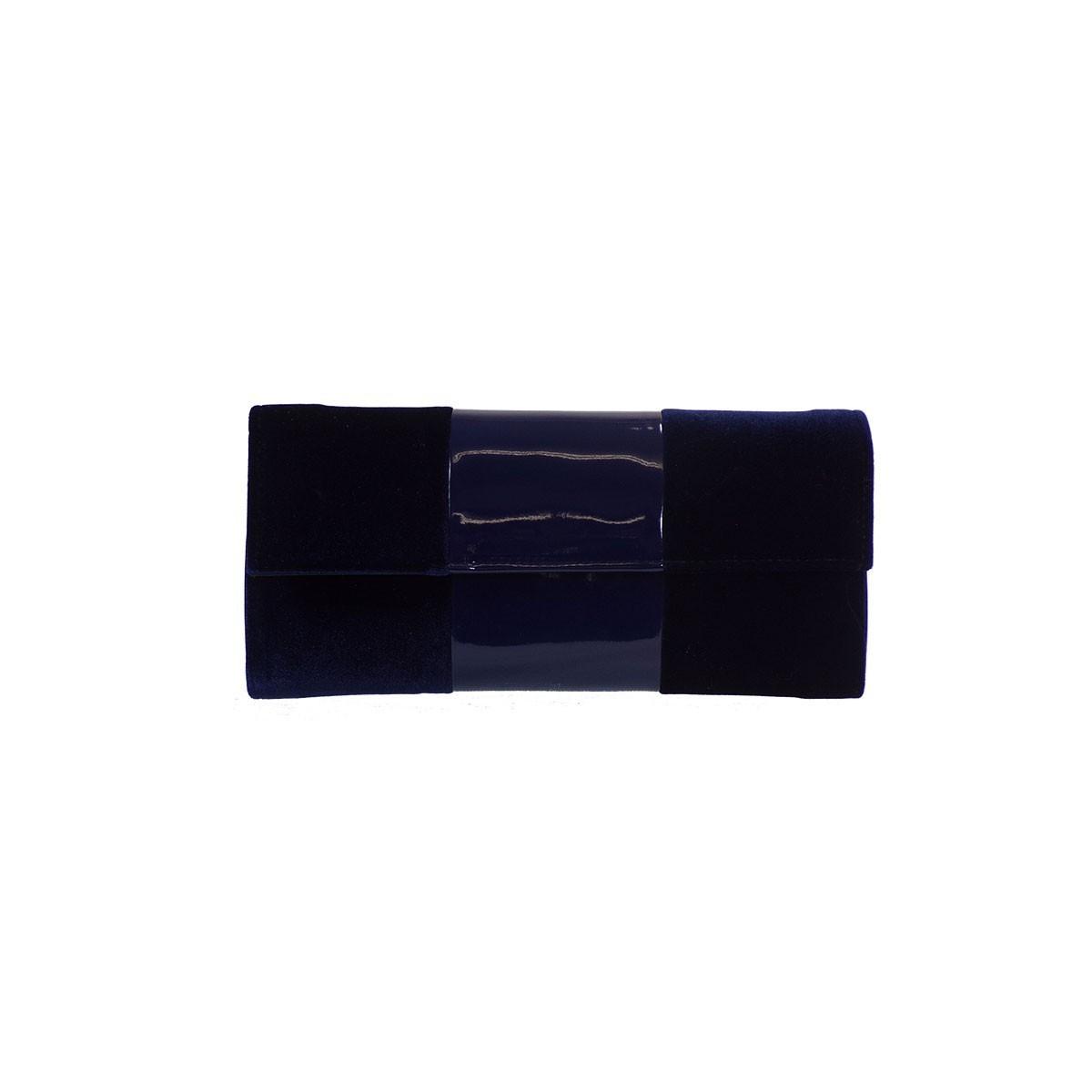 De Raggi Γυναικείες Τσάντες – Φάκελος 7501 Μπλε Βελούδο