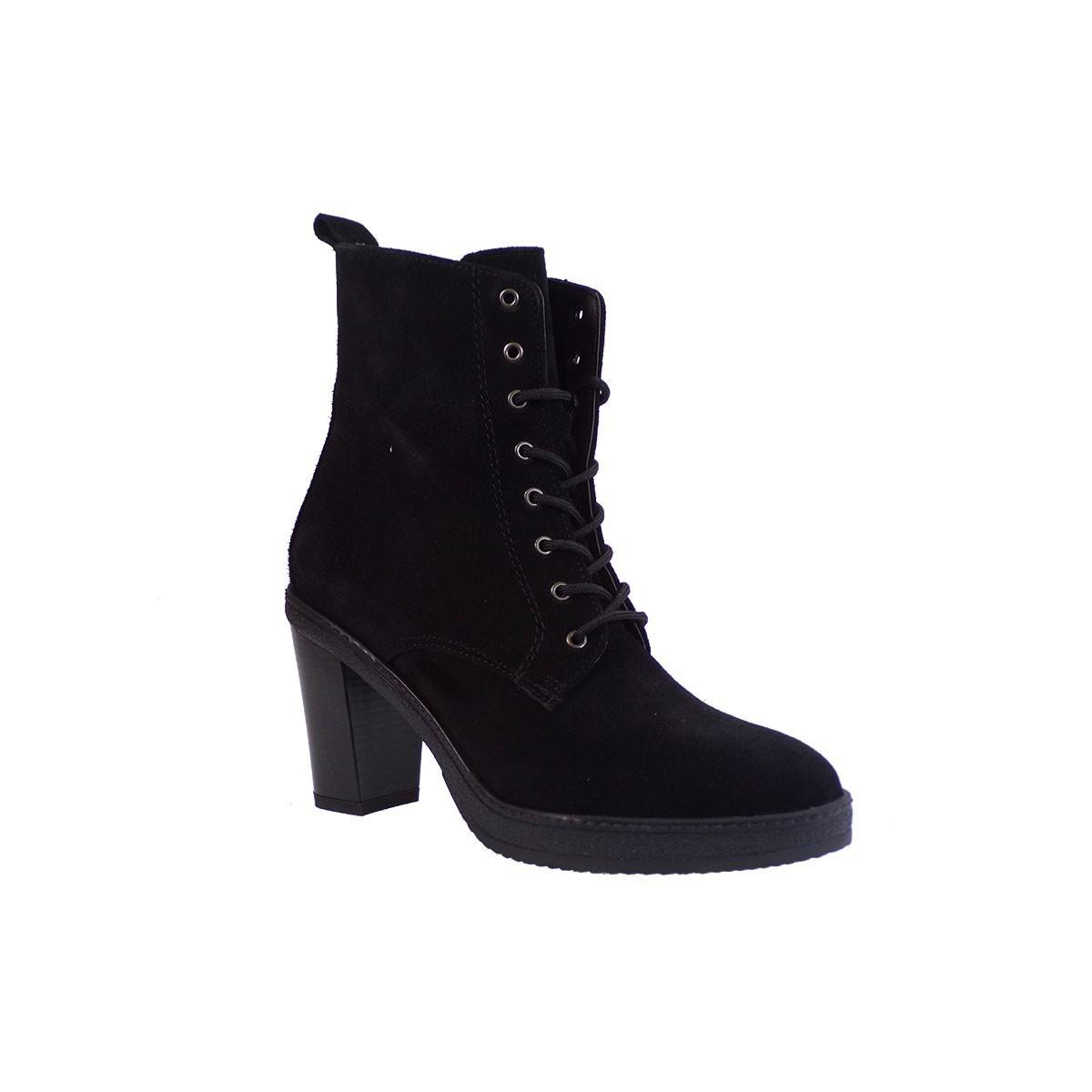 Envie Shoes Γυναικεία Μποτάκια Αρβυλάκια Ε02-06341 Μαύρο Δέρμα Καστόρι
