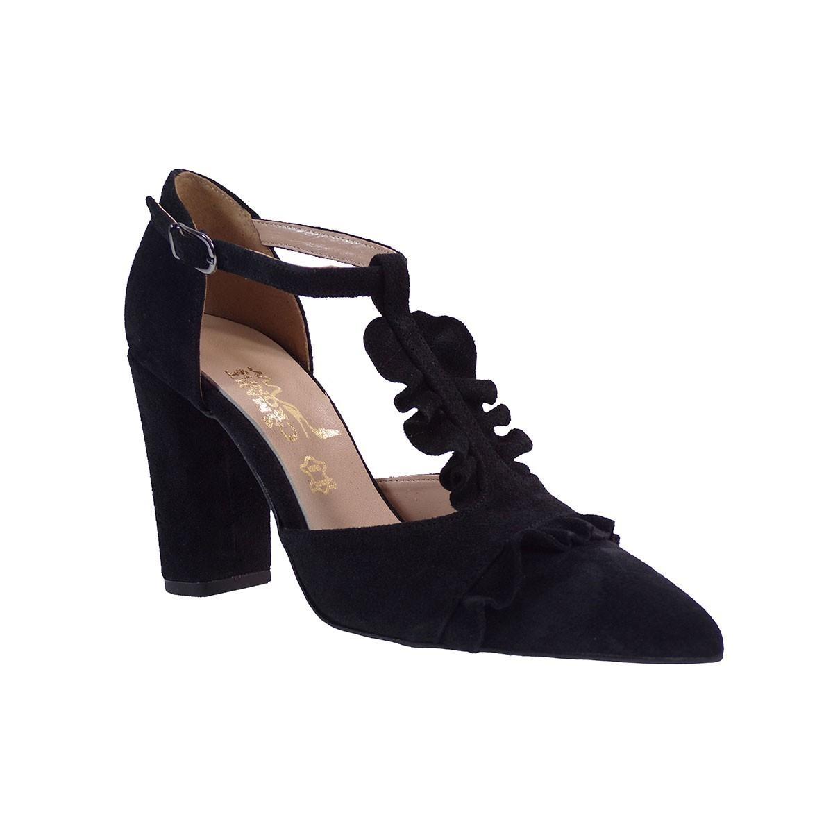 SMART CRONOS Γυναικεία Παπούτσια Γόβες 6709/3544 Μαύρο Δέρμα Καστόρι