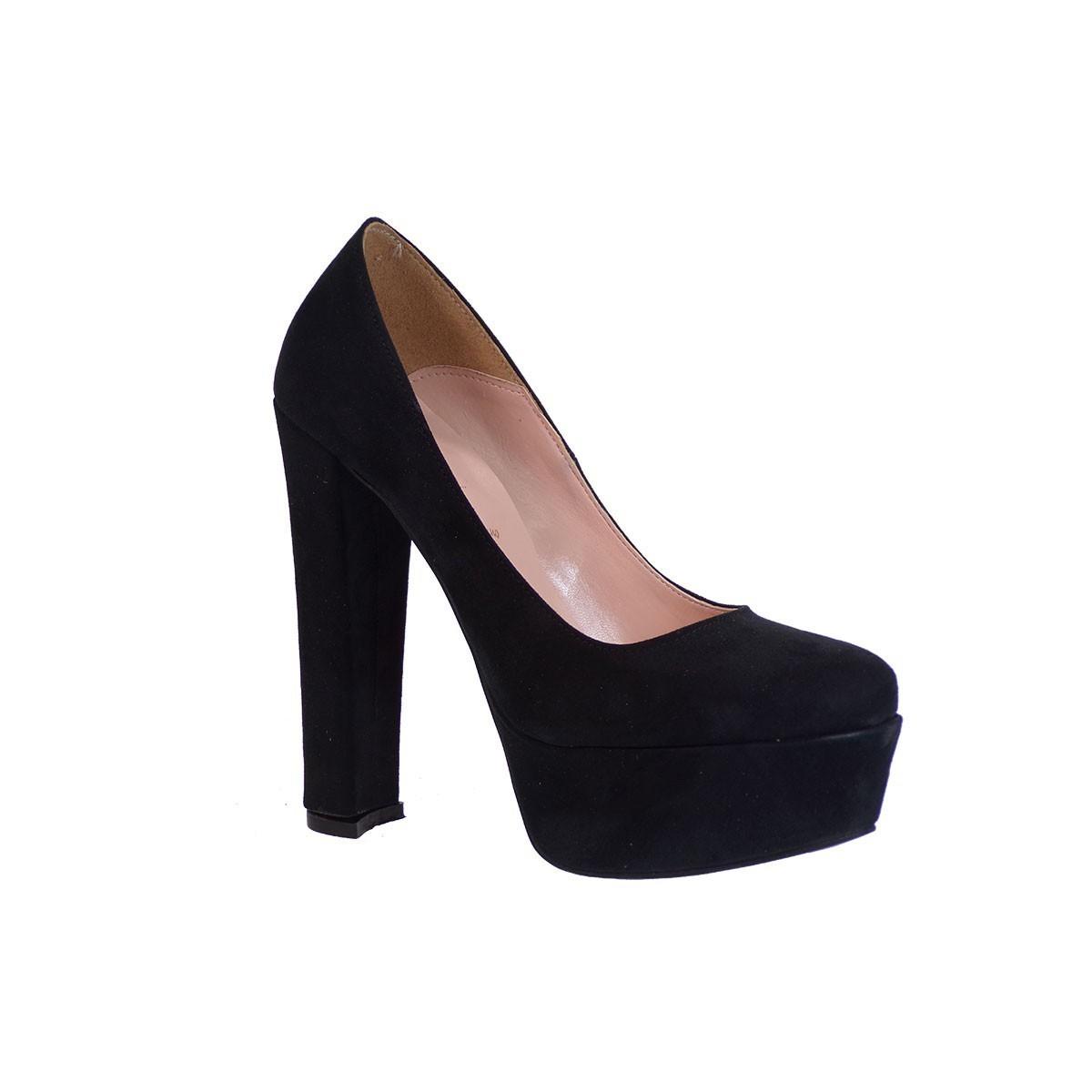 Alessandra Paggioti Γυναικεία Παπούτσια Γόβες 78001 Μαύρο Καστόρι