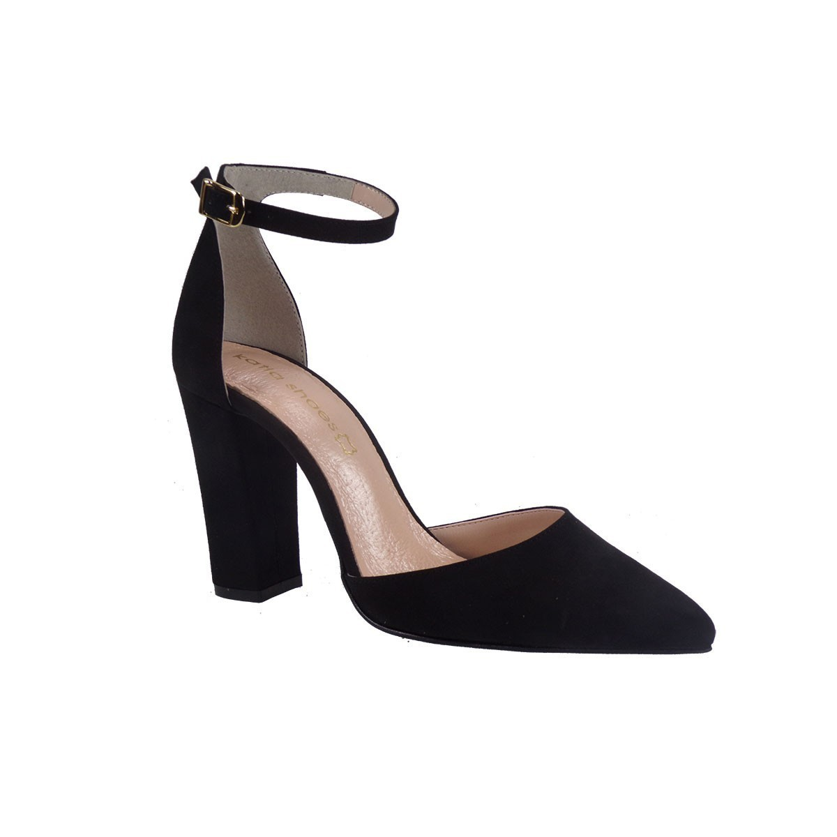 1cb112a72d3 Katia Shoes Γυναικεία Παπούτσια Γόβες 10-4972 Μαύρο Καστόρι |Γυναικεία &  Ανδρικά Παπούτσια - BagiotaShoes.gr
