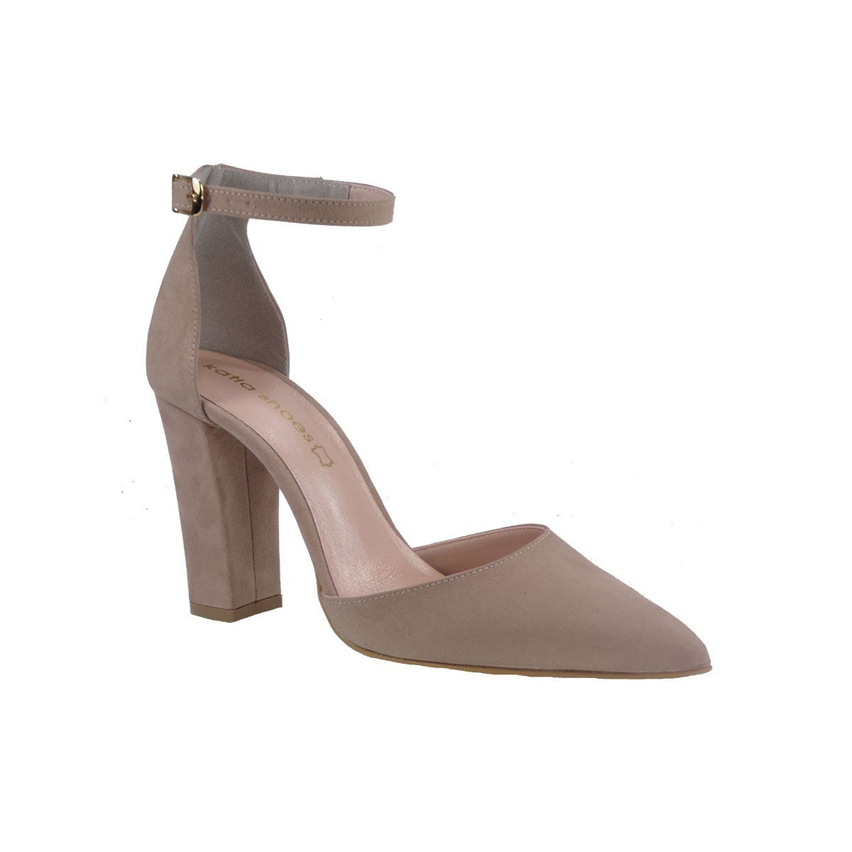 Katia Shoes Γυναικεία Παπούτσια Γόβες 10-4972 Πούδρα Καστόρι