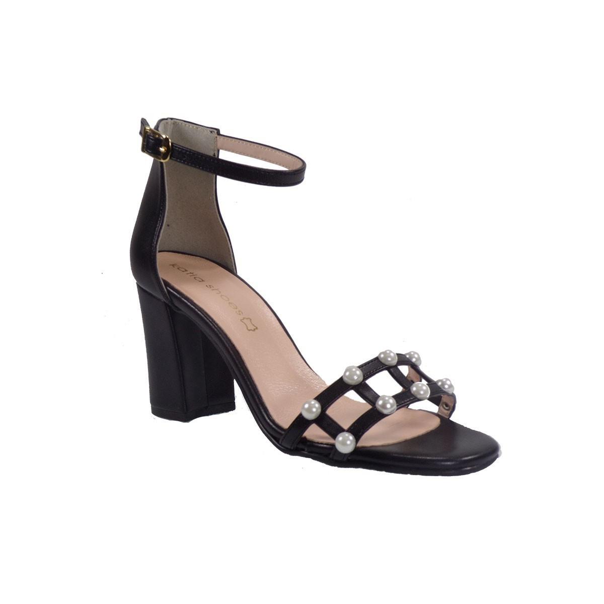 Katia Shoes Γυναικεία Παπούτσια Πέδιλα 35-1787 Μαύρο Ματ