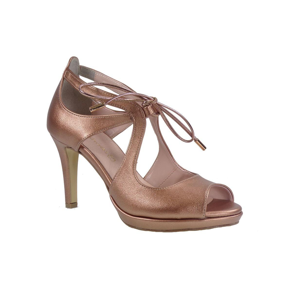 Katia Shoes Γυναικεία Παπούτσια Πέδιλα 74-4966 Χαλκός Ματ