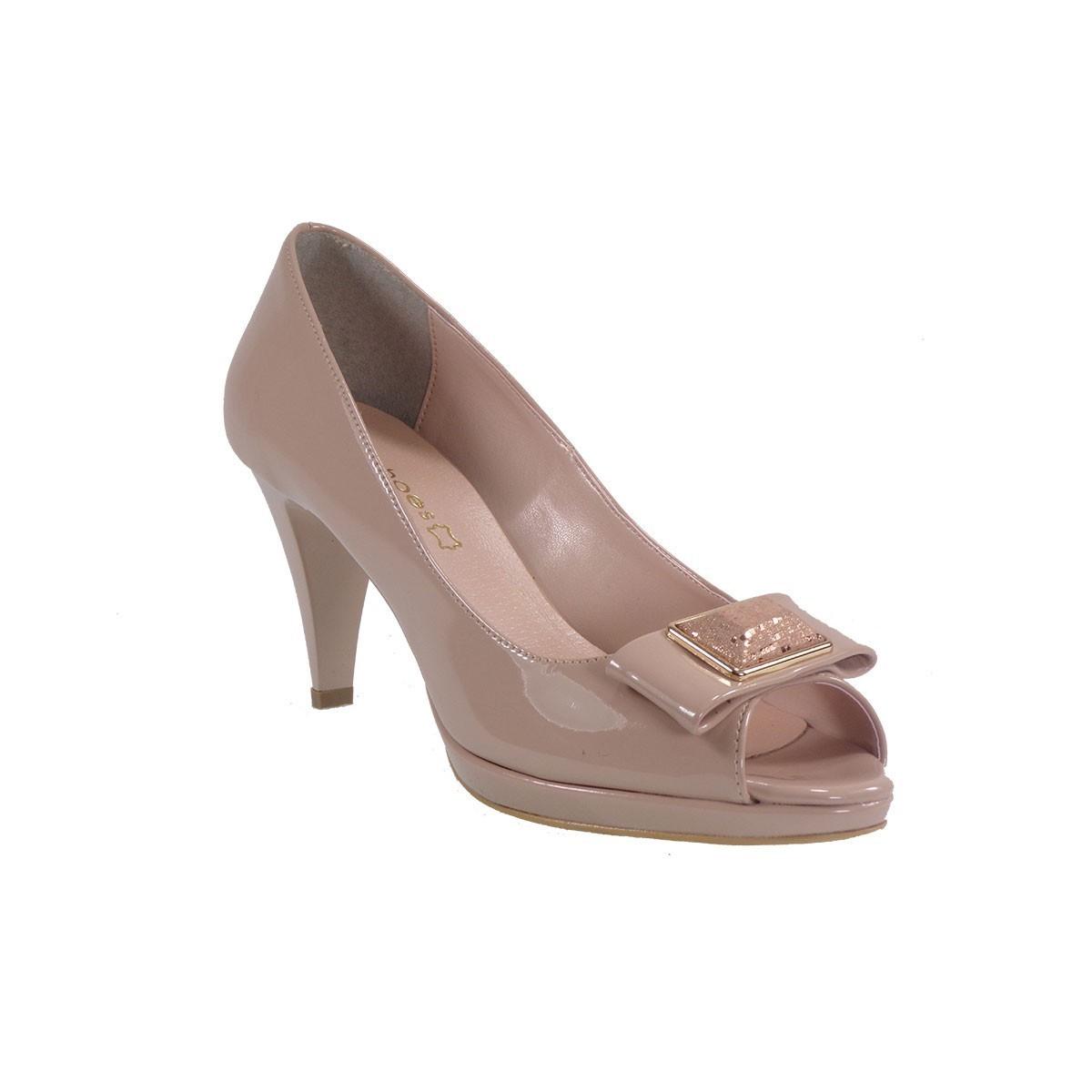b841ea42762 Katia Shoes Γυναικεία Παπούτσια Γόβες 79-69 Νude Λουστρίνι |Γυναικεία &  Ανδρικά Παπούτσια - BagiotaShoes.gr