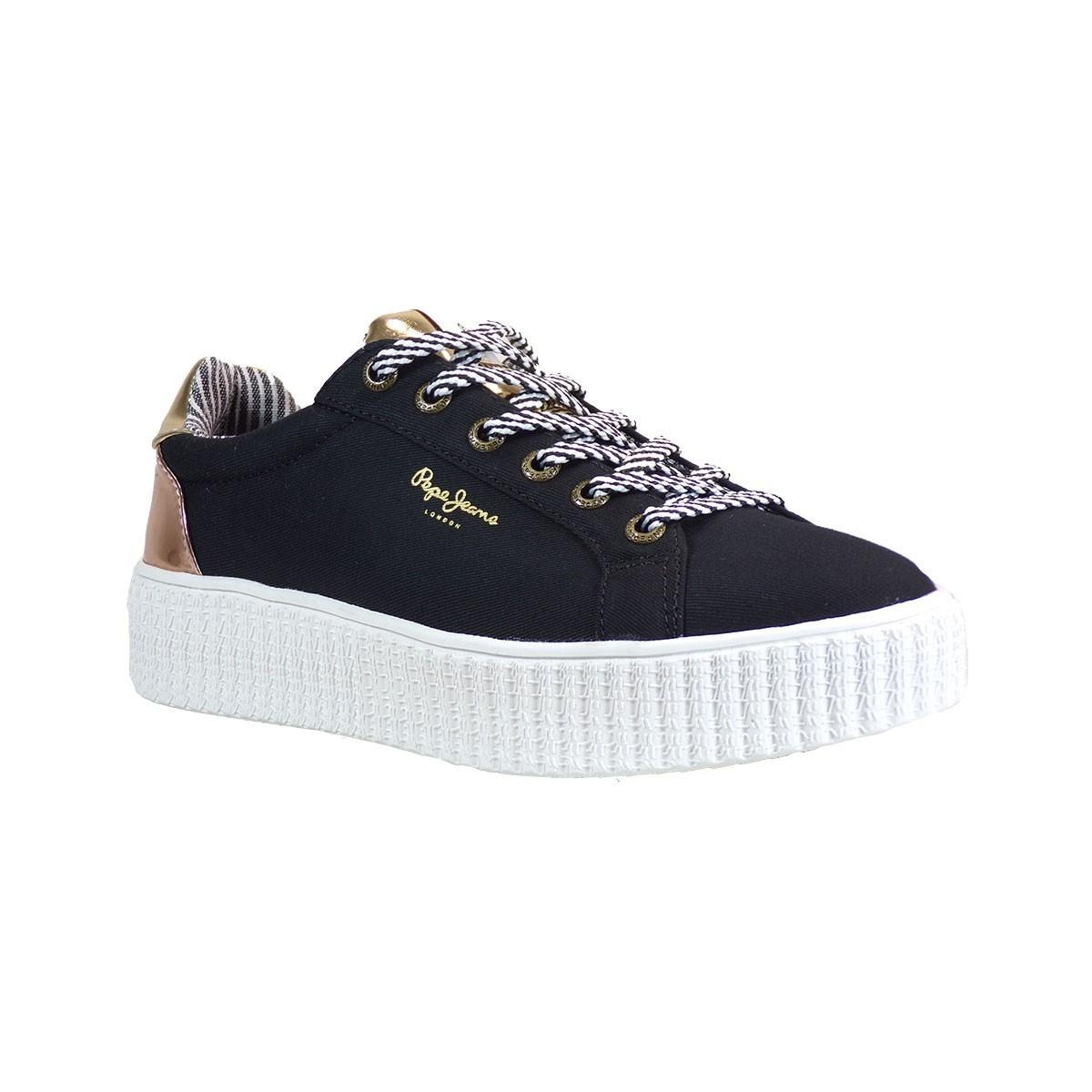 9a96d3cd6f8 Pepe jeans FRIDA Sneakers Γυναικεία Παπούτσια PLS30686-999 Μαύρο
