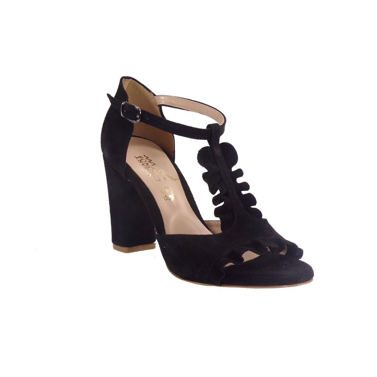 Smart Cronos Γυναικεία Παπούτσια Πέδιλα 6817-544 Μαύρο Καστόρι Δέρμα