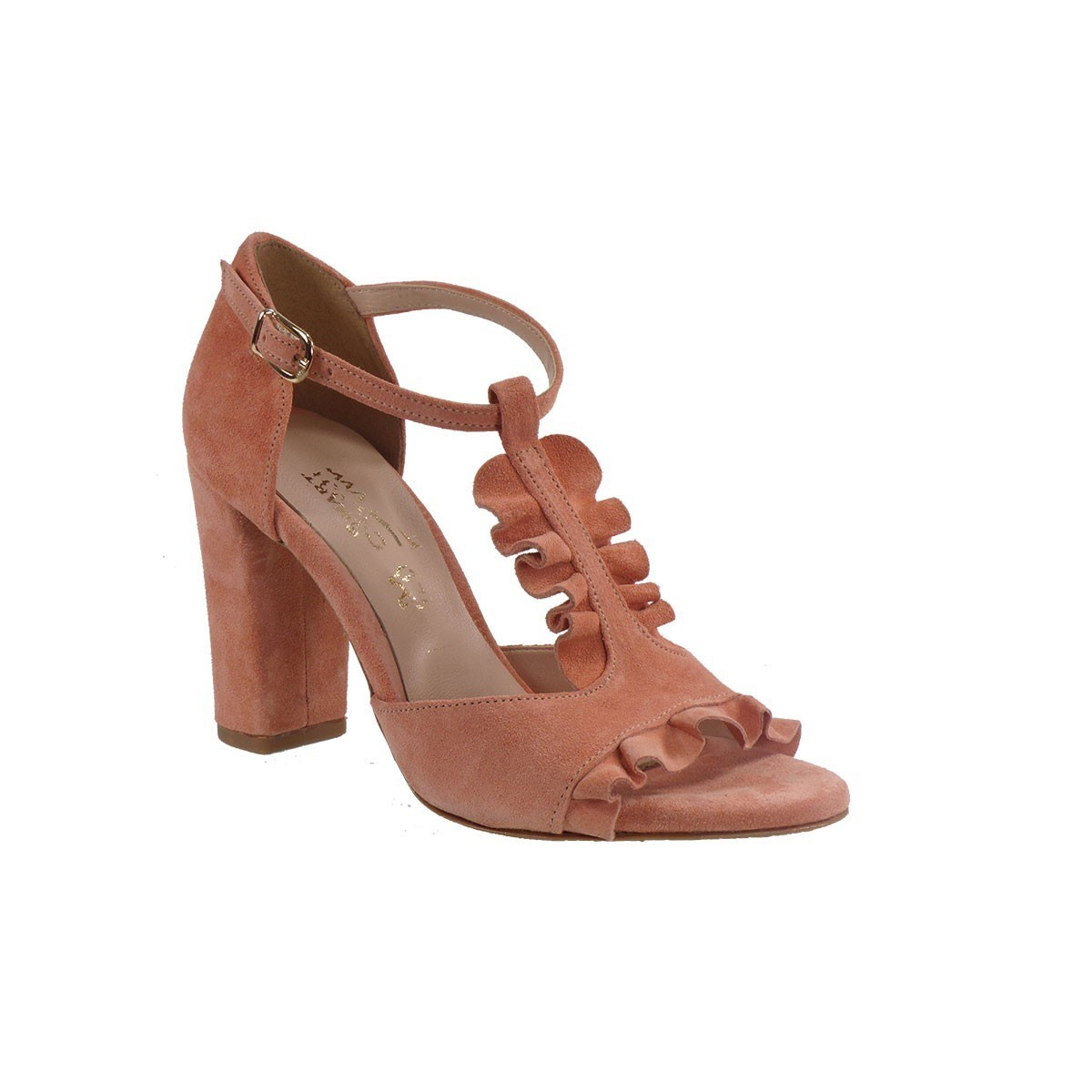 Smart Cronos Γυναικεία Παπούτσια Πέδιλα 6817-544 Βερυκοκί Καστόρι Δέρμα