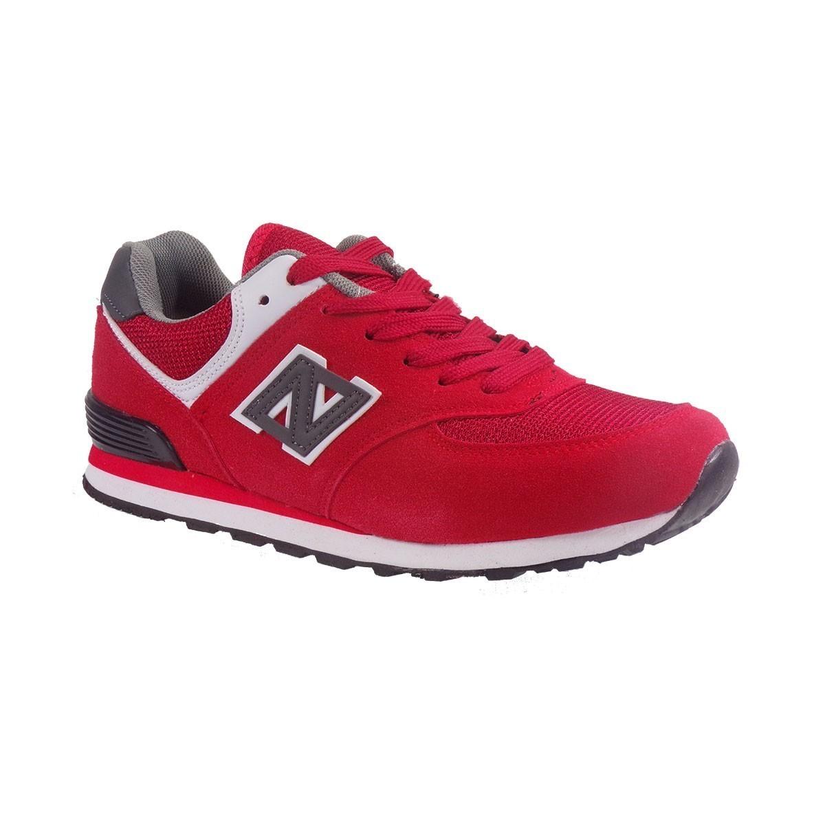 Bagiota Shoes Γυναικεία Παπούτσια Sneakers Αθλητικά L-574-4 Κόκκινο