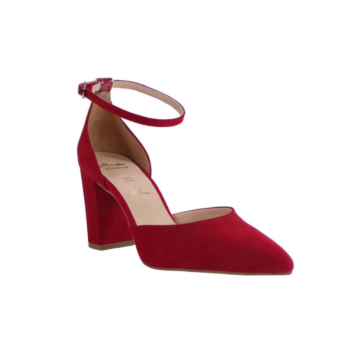 Alessandra Paggioti Γυναικεία Παπούτσια Γόβες 83429 Κόκκινο Kαστόρι