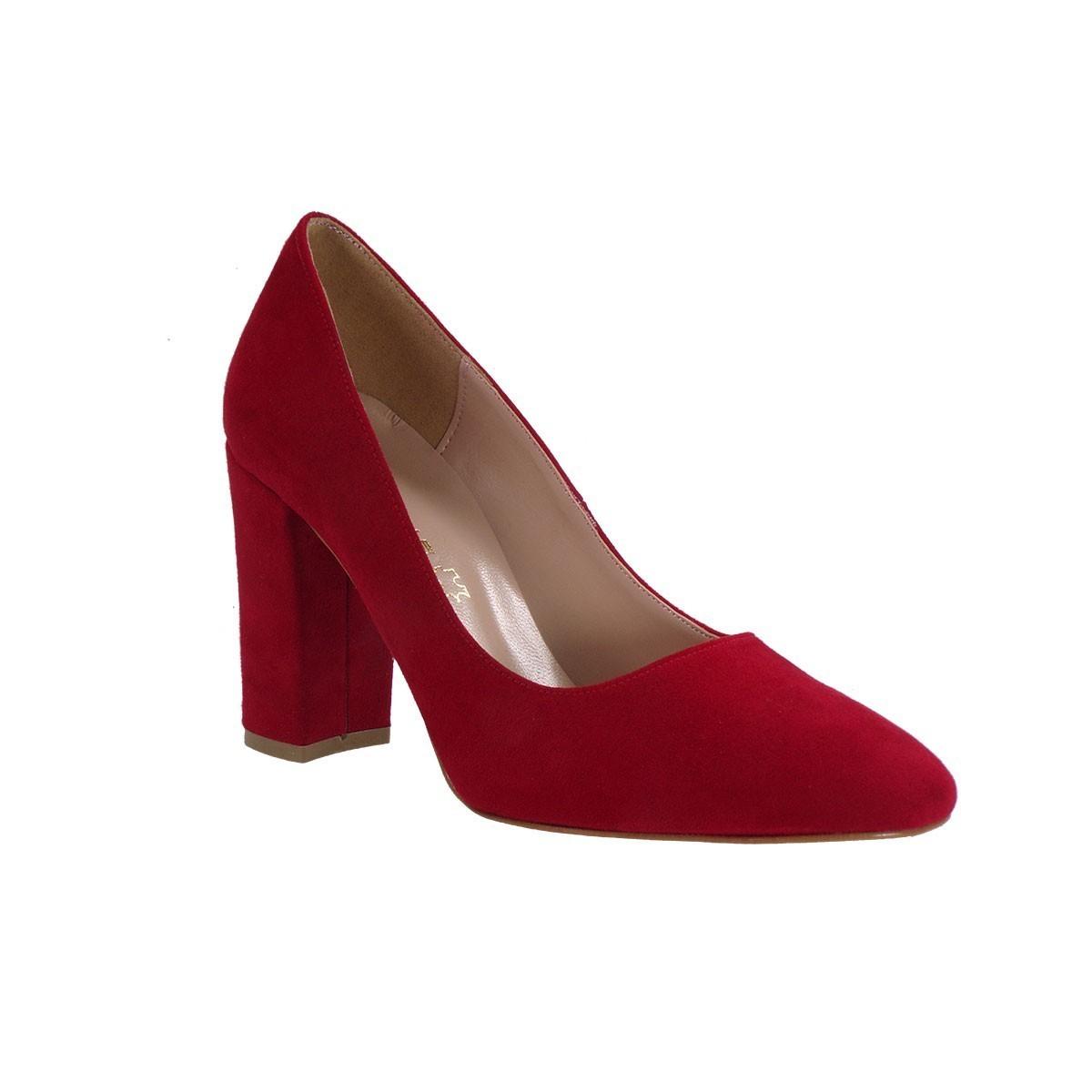 Envie Shoes Γυναικείες Παπούτσια Γόβες E02-07415 Κόκκινο Καστόρι