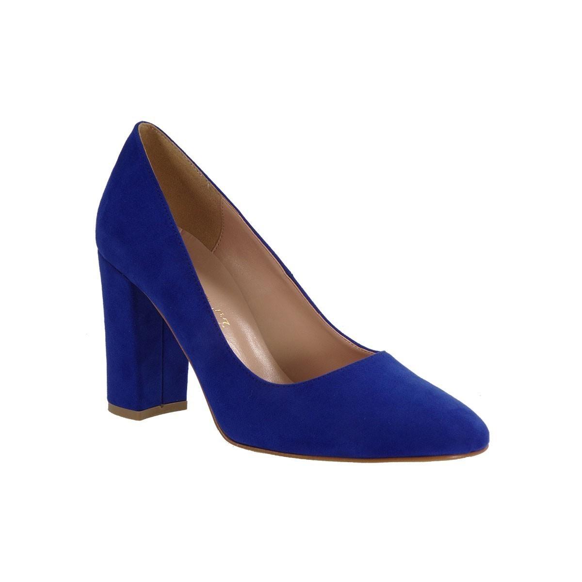 a7beb3436fd Envie Shoes Γυναικείες Παπούτσια Γόβες E02-07415 Μπλέ Καστόρι  Γυναικεία &  Ανδρικά Παπούτσια - BagiotaShoes.gr