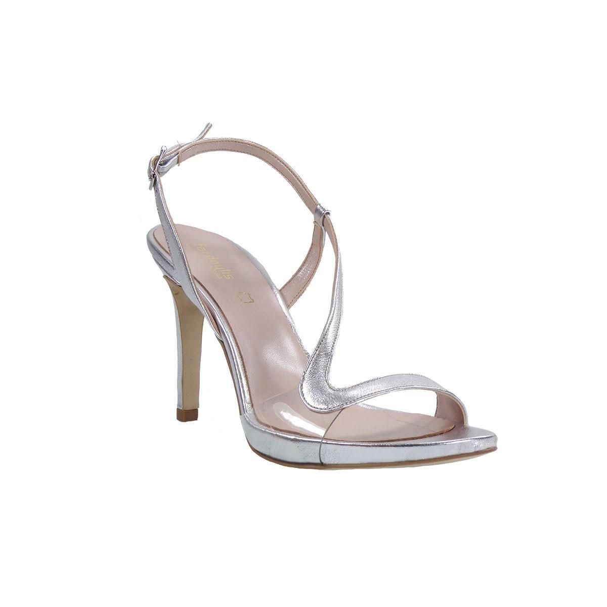 Fardoulis shoes Γυναικεία Πέδιλα 8053 Ασημί Δέρμα
