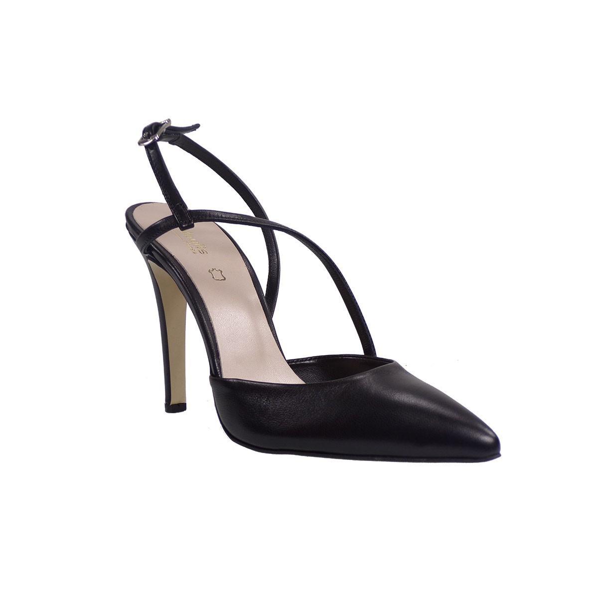 Fardoulis Shoes Γυναικείες Γόβες 2323 Μαύρο Δέρμα