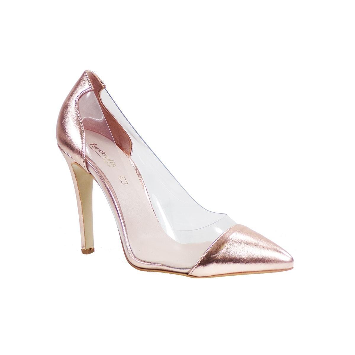 Fardoulis Shoes Γυναικείες Γόβες 2351 Χαλκός Δέρμα