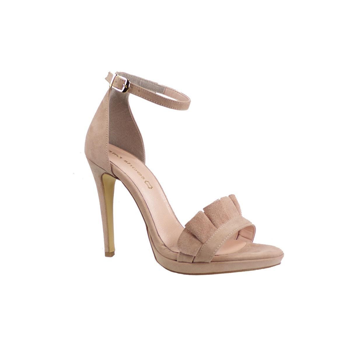 Katia Shoes Γυναικεία Παπούτσια Πέδιλα 60-4923 Nude Καστόρι